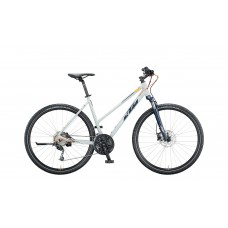 Bicykel KTM LIFE ROAD lightgrey matt (blue+mandarin) 2020