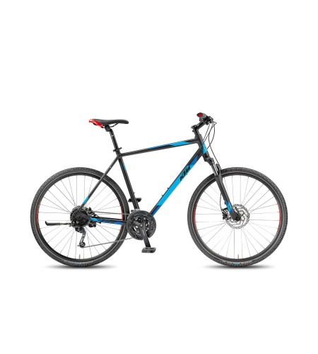 KTM LIFE ROAD 27 DISC H Black Matt/Marseille Blue/Red