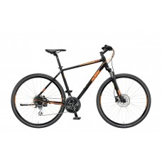 KTM LIFE TRACK 24 DISC H black matt (orange) 2019