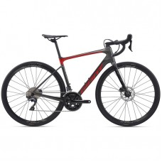 Cestný bicykel GIANT Defy Advanced 1-M20-charcoal/pure red